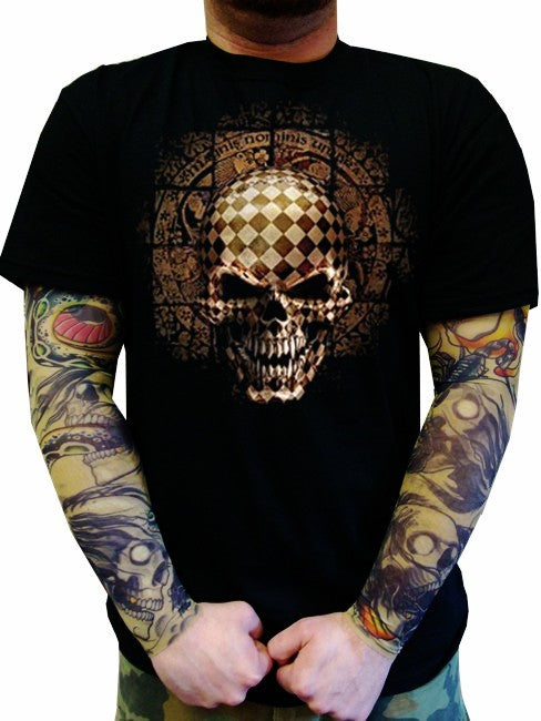 "Biker T-Shirts - ""Symbiote Puzzle Box Skeleton"""