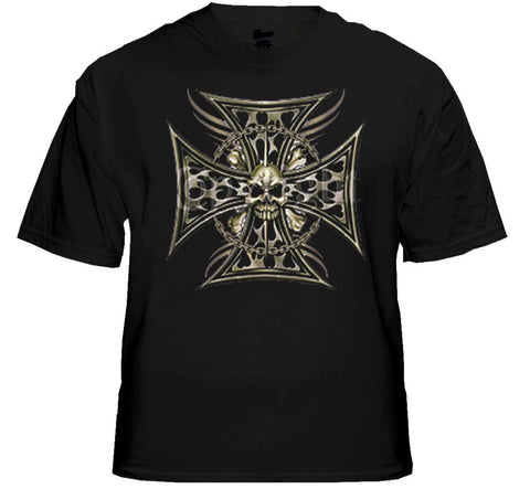 "Biker T-Shirts - ""Tribal Chopper Chain"" Biker Shirt"