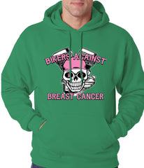 Bikers Against Breast Cancer Hoodie Kelly Green
