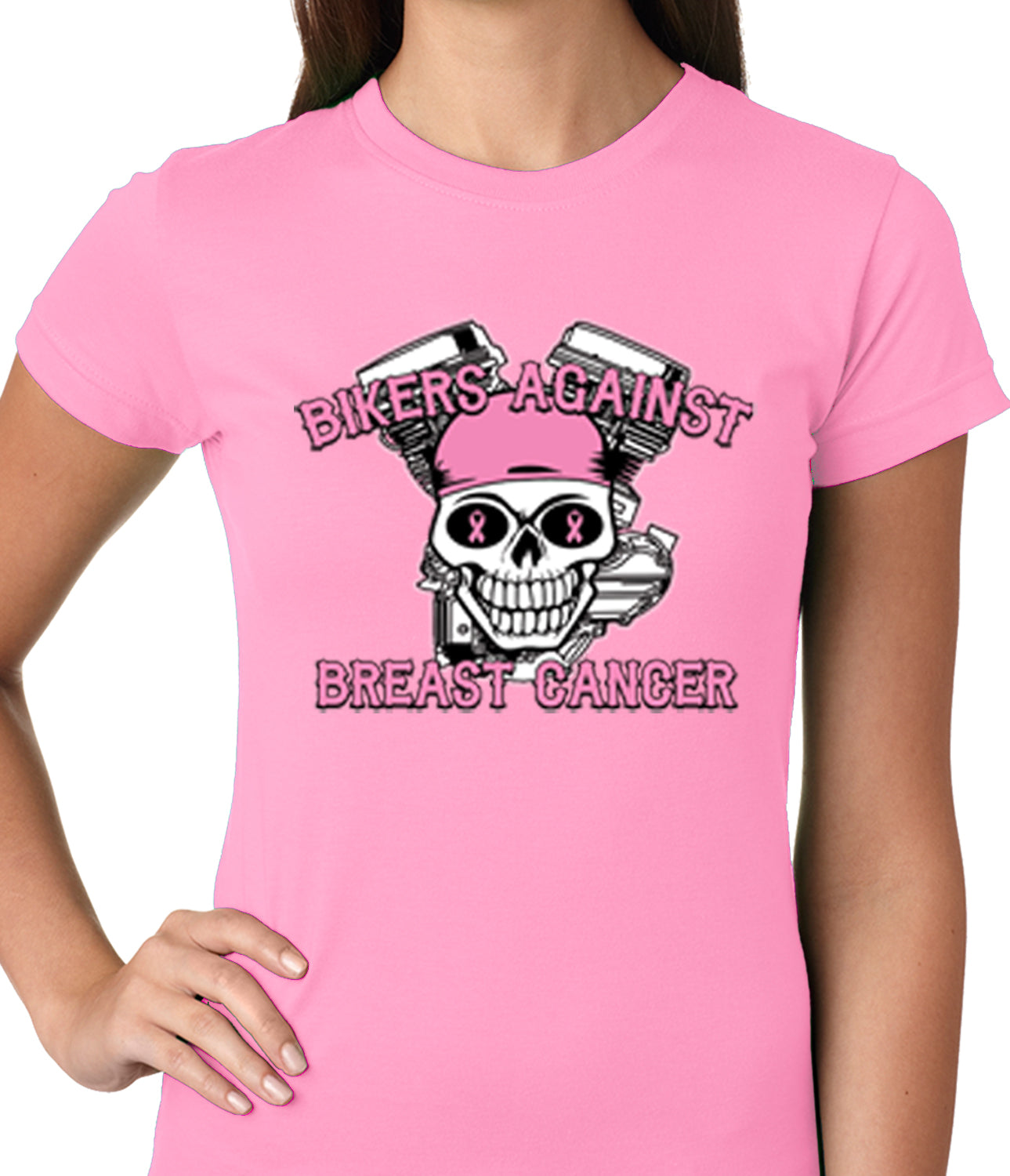 Bikers Against Breast Cancer Ladies T-shirt