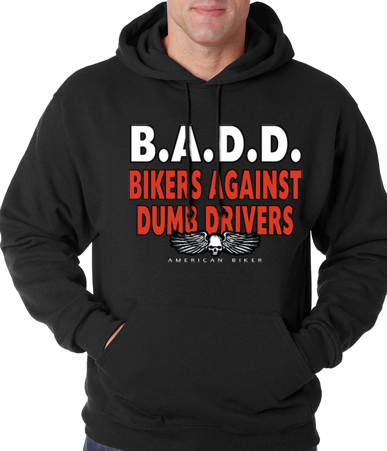 Bikers Against Dumb Drivers Hoodie black
