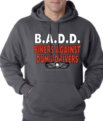 Bikers Against Dumb Drivers Hoodie Charcoal Grey