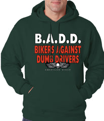 Bikers Against Dumb Drivers Hoodie Forest Green