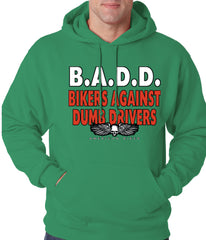 Bikers Against Dumb Drivers Hoodie Kelly Green