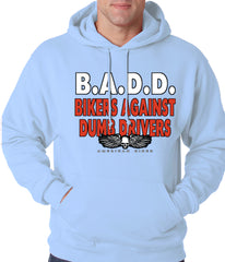 Bikers Against Dumb Drivers Hoodie Light Blue
