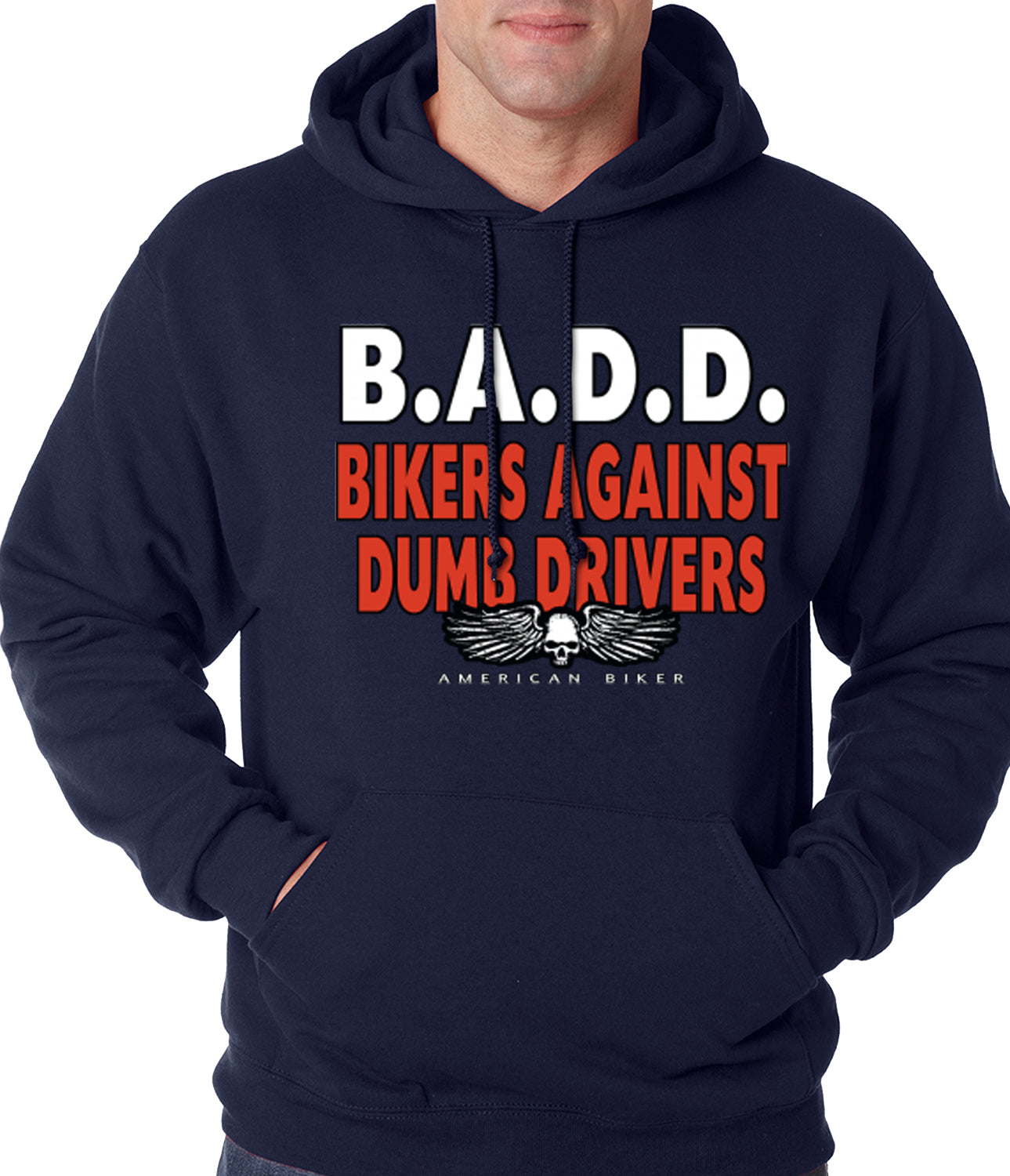 Bikers Against Dumb Drivers Hoodie Navy Blue