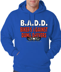 Bikers Against Dumb Drivers Hoodie Royal Blue