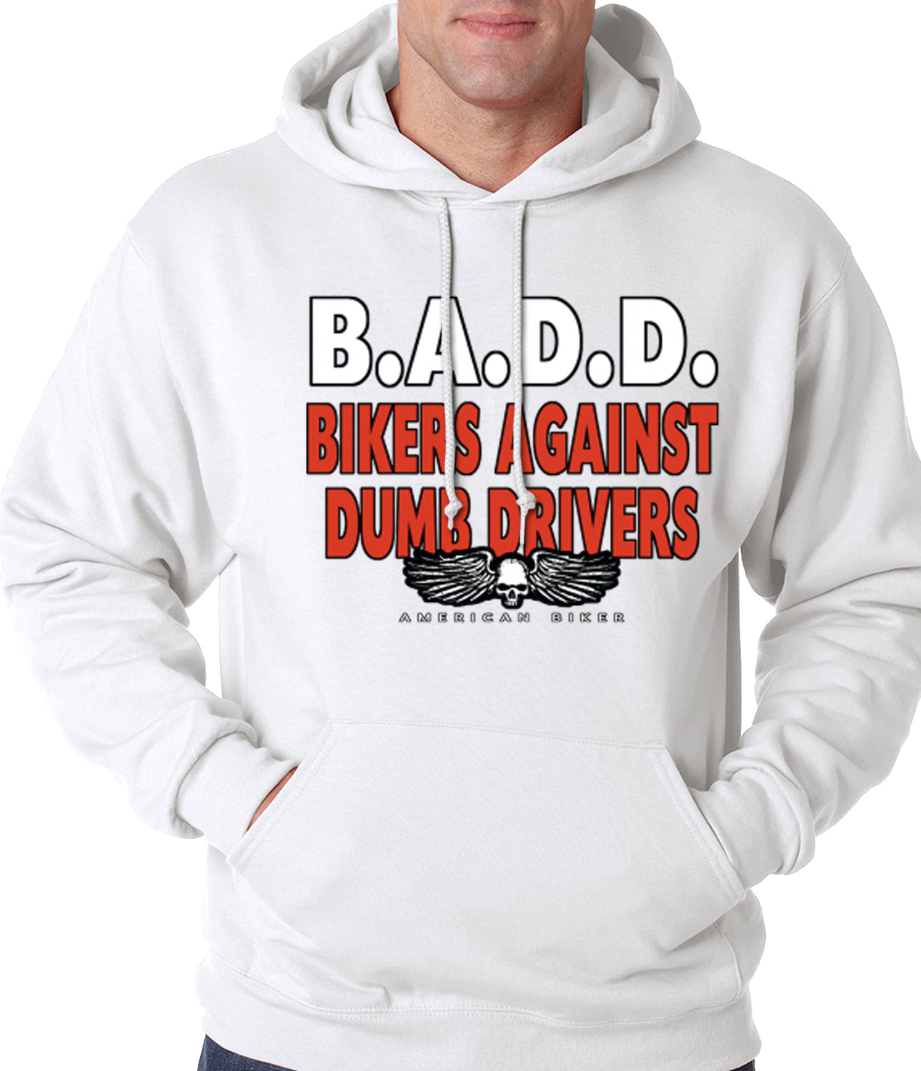 Bikers Against Dumb Drivers Hoodie White