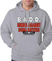 charcoal Bikers Against Dumb Drivers Hoodie
