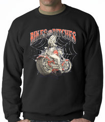 Bikes and B*tches Biker Adult Crewneck
