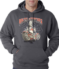 Charcoal Grey Bikes and B*tches Biker Adult Hoodie