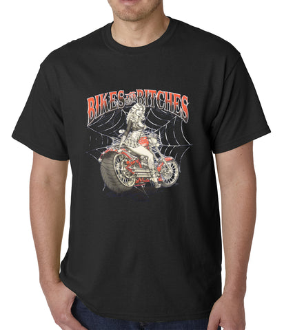 Bikes and B*tches Biker Mens T-shirt
