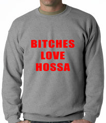 Bitches Love Hossa Chicago Hockey Adult Crewneck