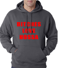 Bitches Love Hossa Chicago Hockey Adult Hoodie