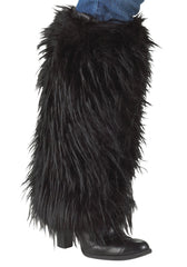Black Furry Leg Warmers
