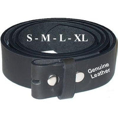 Black Leather Belt w/out Buckle