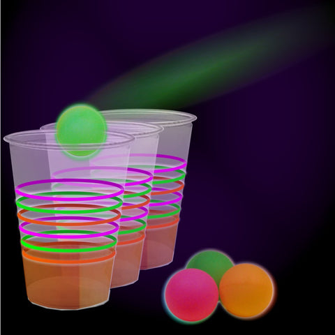 88380f8d0ae Black Light Reactive Neon Beer Pong Party Pack