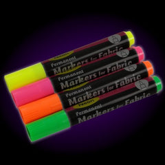 Black Light Reactive Neon Fabric Markers