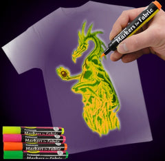 Black Light Reactive Neon Fabric Markers Yellow