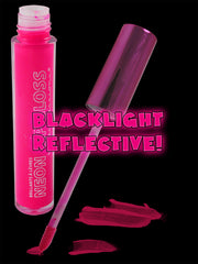 Black Light Reactive Neon Lip Gloss Pink