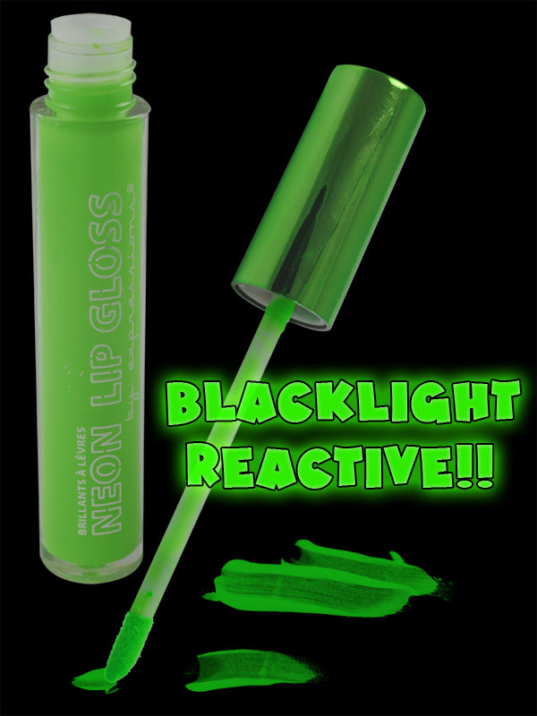 Black Light Reactive Neon Lip Gloss 3 Green