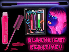 Black Light Reactive Neon Lip Gloss 3 Pink