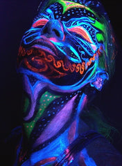 Neon Makeup with Black Light Pendant