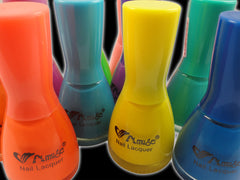 Black Light Reactive Neon Nail Lacquer Orange Yellow