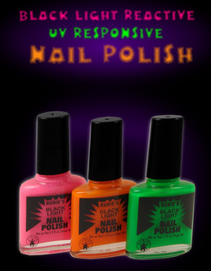 Black Light Reactive Neon Nail Polish