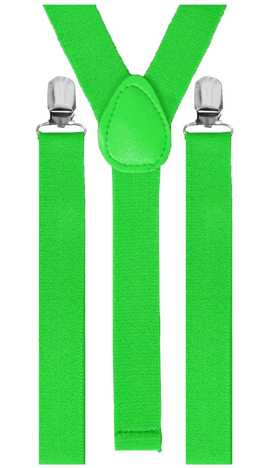 Black Light Reactive Neon Suspenders Green