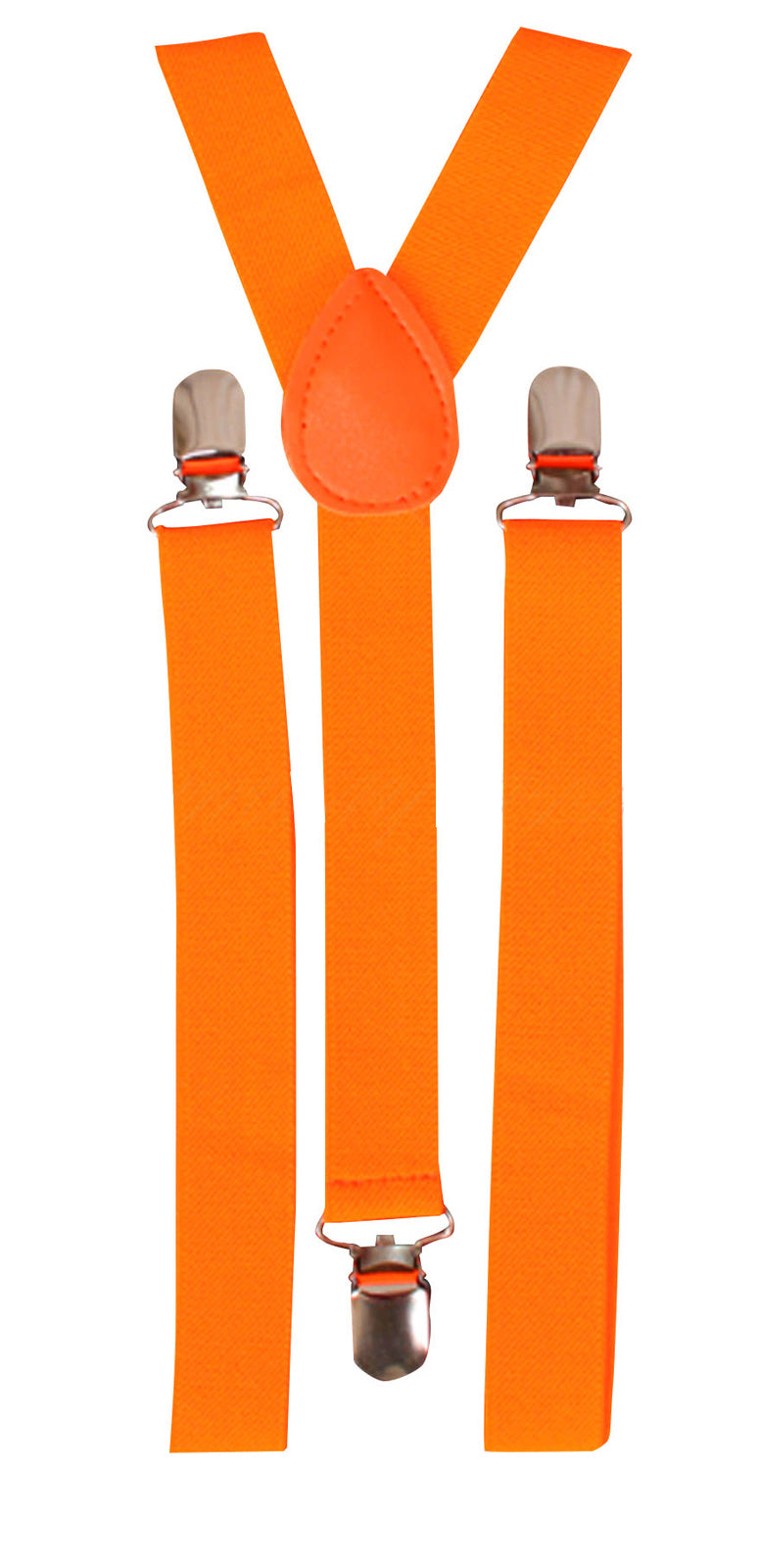 Black Light Reactive Neon Suspenders Orange