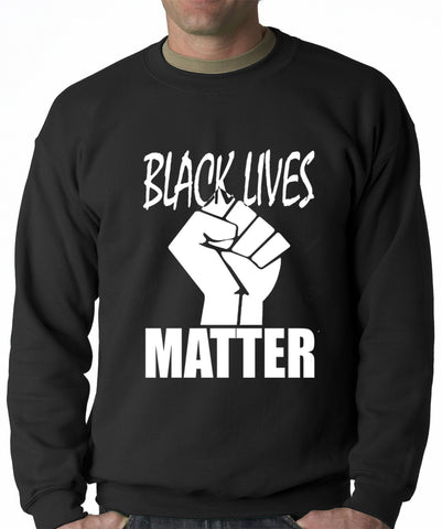 Black Lives Matter Fist Crewneck Sweatshirt