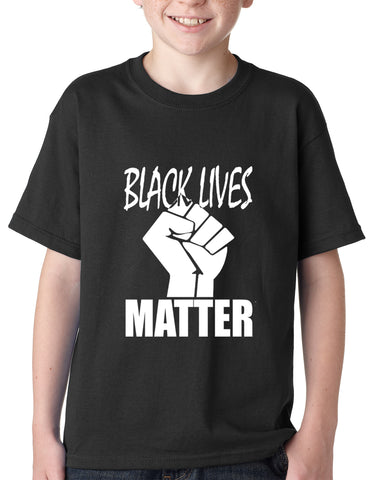 Black Lives Matter Fist Kids T-shirt