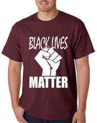 Black Lives Matter Fist Mens T-shirt
