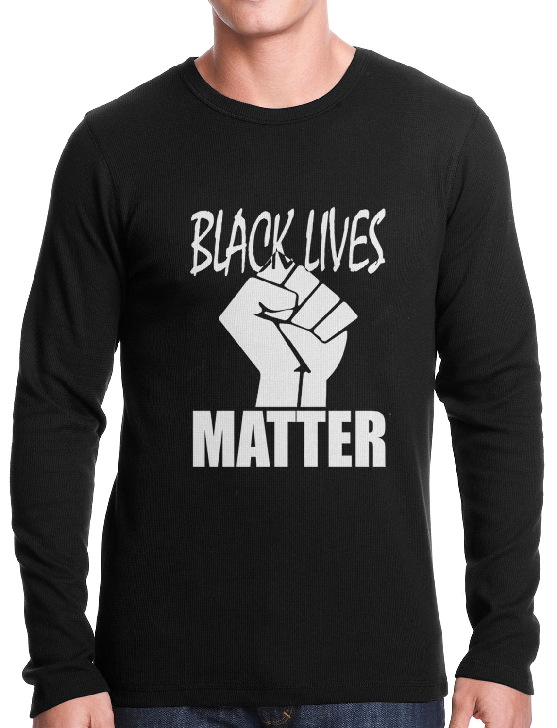 Black Lives Matter Fist Thermal Shirt