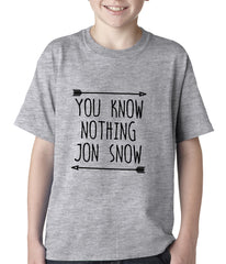 (Black Print) You Know Nothing Jon Snow Kids T-shirt