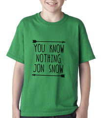 You Know Nothing Jon Snow Kids T-shirt Green