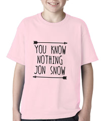 You Know Nothing Jon Snow Kids T-shirt Light Pink