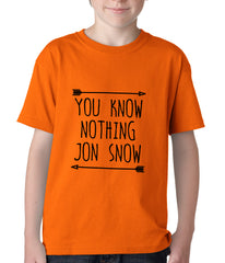 You Know Nothing Jon Snow Kids T-shirt Orange