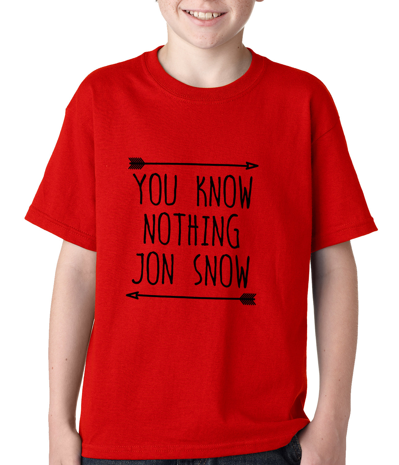 You Know Nothing Jon Snow Kids T-shirt Red