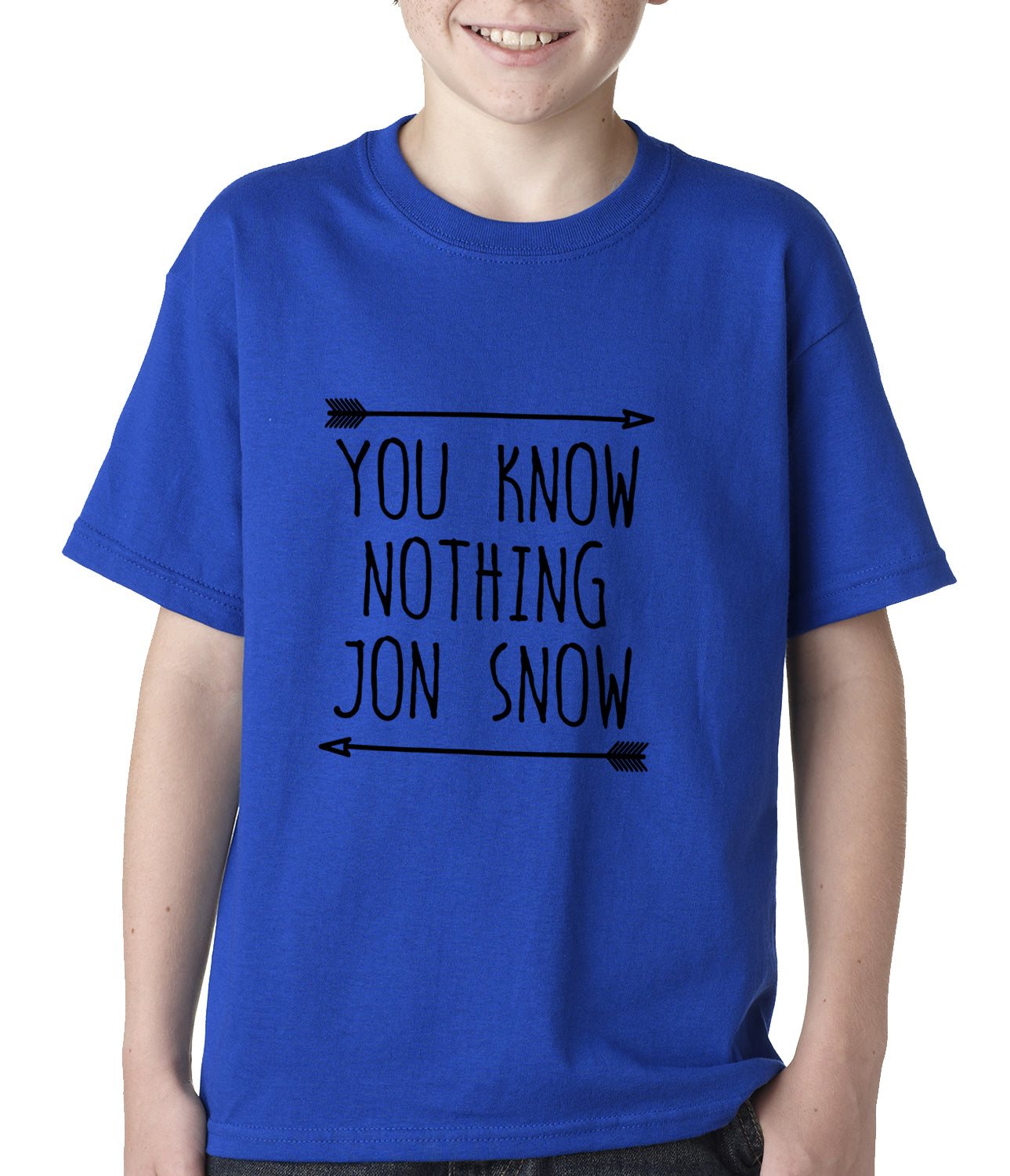 You Know Nothing Jon Snow Kids T-shirt Royal Blue