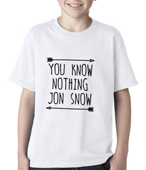 You Know Nothing Jon Snow Kids T-shirt White