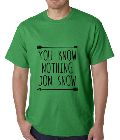 You Know Nothing Jon Snow Mens T-shirt Green