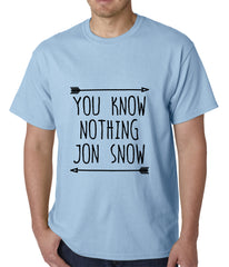 You Know Nothing Jon Snow Mens T-shirt Light Blue