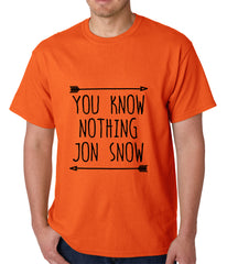 You Know Nothing Jon Snow Mens T-shirt Orange
