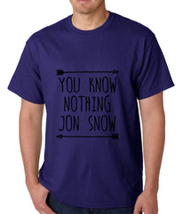 You Know Nothing Jon Snow Mens T-shirt Navy Blue