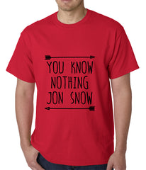 You Know Nothing Jon Snow Mens T-shirt Red