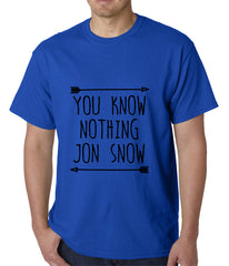 You Know Nothing Jon Snow Mens T-shirt Royal Blue