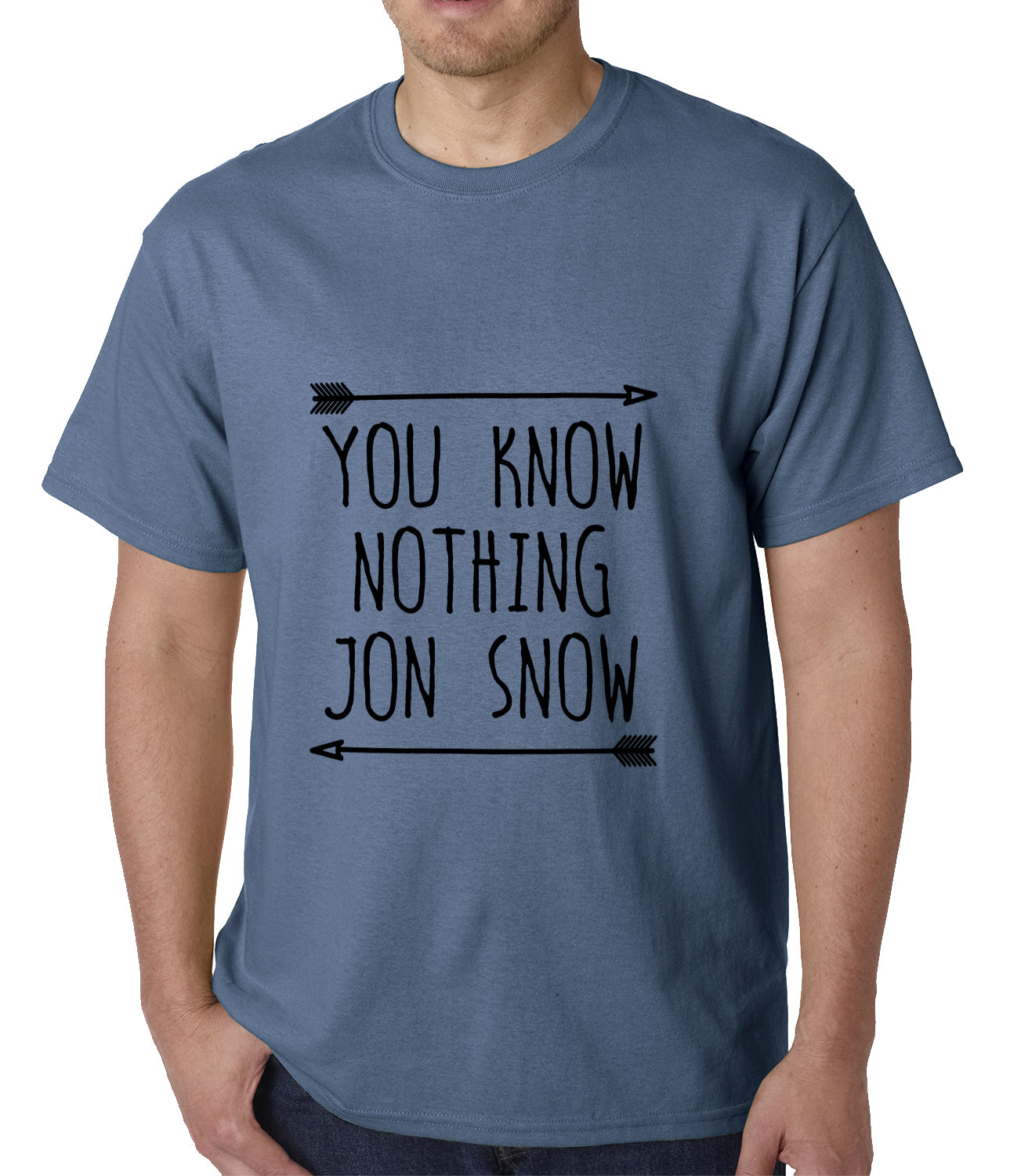 You Know Nothing Jon Snow Mens T-shirt Heather Grey
