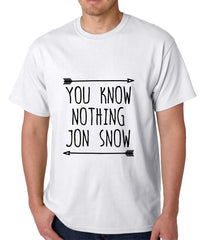 You Know Nothing Jon Snow Mens T-shirt White